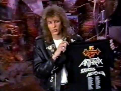 MTV's Headbangers Ball - Anthrax Anti-Social Shirt Advertisement From 1989