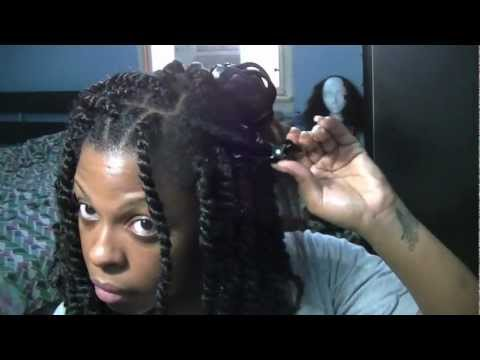 How To   Long Afro Puffy Twists Tutorial (Natural/Transitioning Hair)