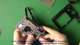 1N54 Reparatur Kameras Nikon CoolPix S5100 -Display Umtausch - Replace or Repair- Display change