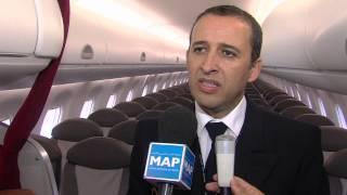أسطول الخطوط الملكية المغربية يتعزز بطائرة جديدة من نوع إمبراير 190