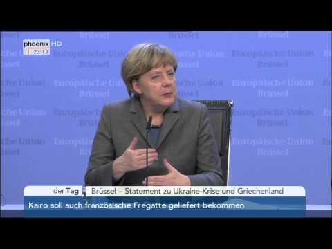 EU-Gipfel: Angela Merkel zu Griechenland, Ukraine-Krise und Sanktionen am 12.02.2015