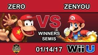 2GGC: Genesis Saga - TSM | ZeRo (Diddy Kong) Vs. eM | Zenyou (Mario) Winners Semis - Smash Wii U