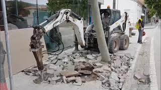Video Backhoe+breaker