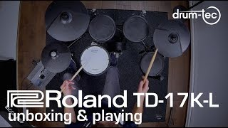 Roland TD-17K-L electronic drum kit unboxing & playing demo by drum-tec