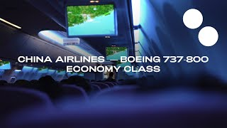 CHINA AIRLINES BOEING 737-800 ECONOMY I HONG KONG - TAPEI