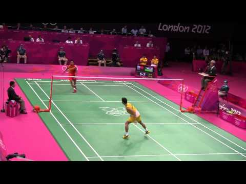 Lee Chong Wei vs Lin Dan Olympic London 2012 - Great Rally at 5-7 (3rd set)