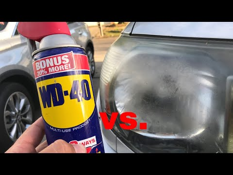 The TRUTH about WD 40 vs Headlights!