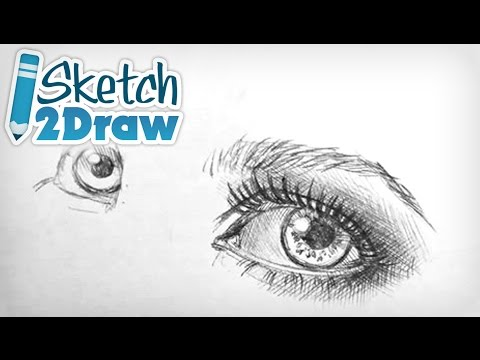 Doodling the Eyes with Ball Point Pen