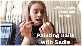 Painting my nails and life update
