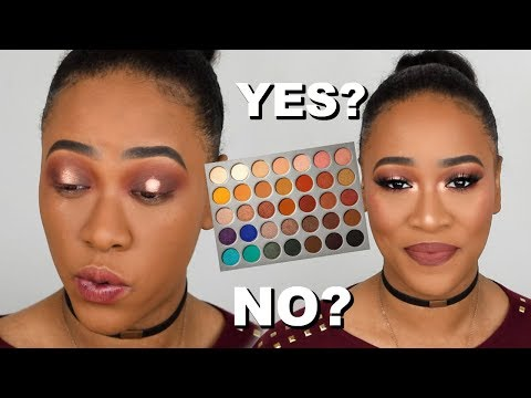 JACLYN HILL X MORPHE PALETTE SWATCHES. TUTORIAL & REVIEW