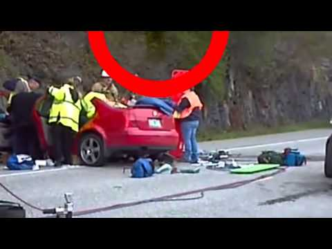 Ghost spirit caught at accident site - Shocking spirits caught leaving...