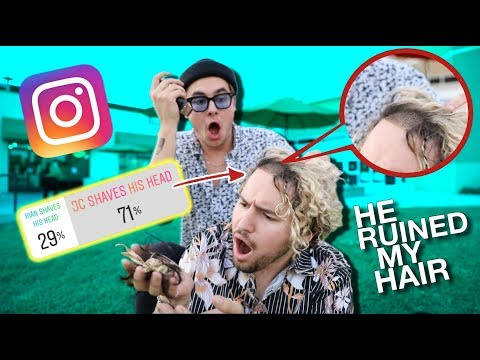 INSTAGRAM CONTROLS OUR LIFE FOR A DAY (Kian shaves Jc's hair....)