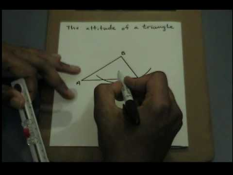 Constructing an altitude of a triangle