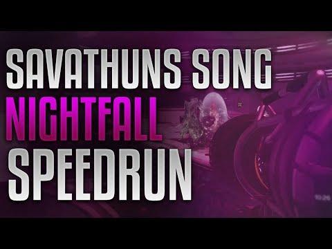 Destiny 2 - Savathun's Song Nightfall World Record Speedrun [8:06]