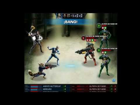 Marvel Avengers Alliance - Mostrando Rocket Raccoon y Hacha Belica