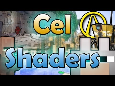 Minecraft Mods - Cel Shaders 1.5.2 (GLSL Shaderpack) Review and Tutorial - Borderlands in Minecraft!?!?
