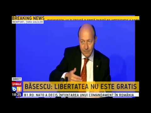 Traian Basescu, concluzii dupa summitul NATO din Tara Galilor