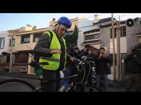 Martínez pedaleó 40 minutos de Buceo al Centro