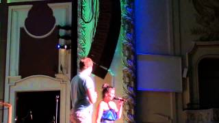 Tyler Hanes singing the end of Defying Gravity with Idina Menzel in Pittsburgh