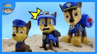 Paw Patrol Chase transforms. It's getting smaller and bigger ~