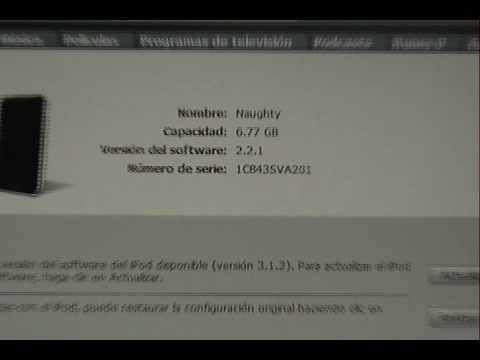 COMO RESTAURAR EL IPOD A SU CONFIGURACION DE FABRICA ORIGINAL