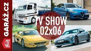 GARÁŽ.cz 02x06 - Liaz Xena, Ferrari F355, Alfa Romeo Giulia QV + Stelvio QV a Škola driftu