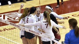 No. 21 Cougs women's volleyball sweeps Wildcats