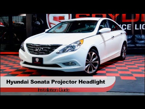 Spyder Auto Installation: 2011-13 Hyundai Sonata Projector Halo LED DRL Headlights