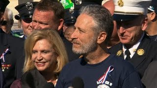 Jon Stewart joins with 9/11 first responders to push for bill renewal