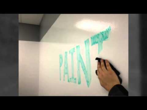 Ideapaint paint a white board anywhere demo and review for Remarkable whiteboard paint reviews