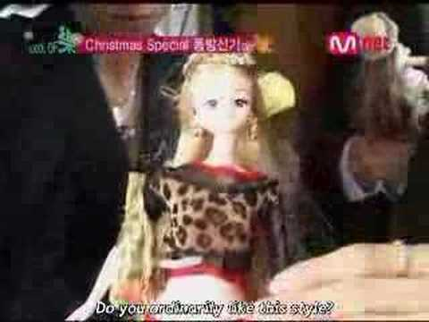 DBSK playing with dolls
