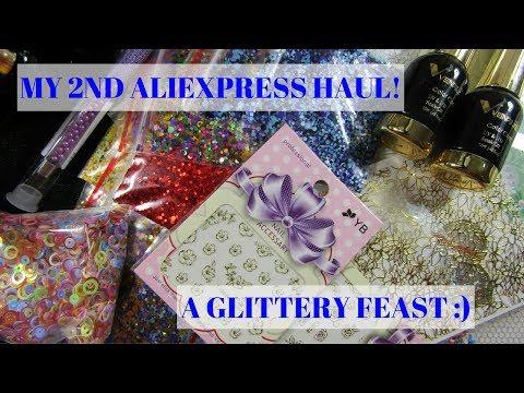 My 2nd Aliexpress Haul   A GLITTERY FEAST!