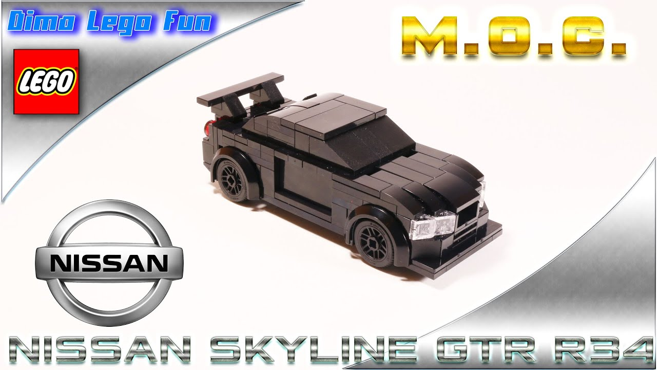 Nissan Skyline GT-R R34 6pin Lego самоделка Ниссан ГТР Р34 #37 - YouTube