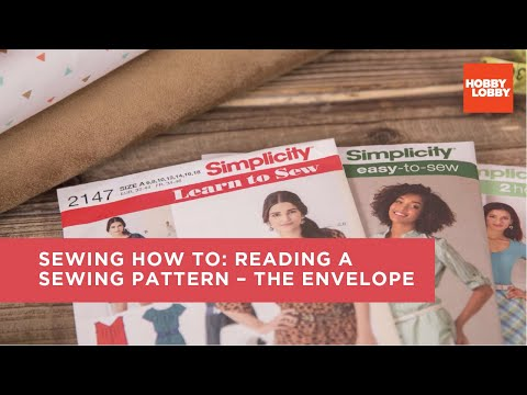 How to Read a Sewing Pattern: The Envelope