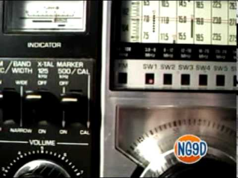 Panasonic Shortwave Radio RF-2200 Demo