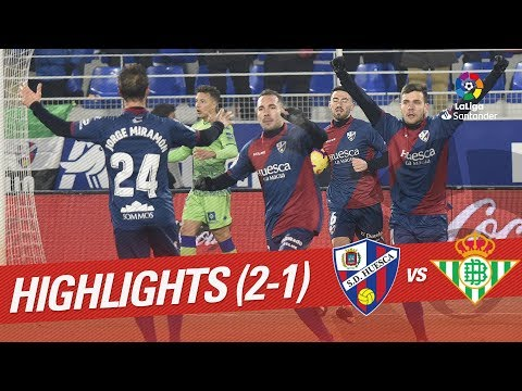 Highlights SD Huesca vs Real Betis (2-1)