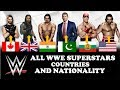 Nationality and Countries of WWE SUPERSTARS
