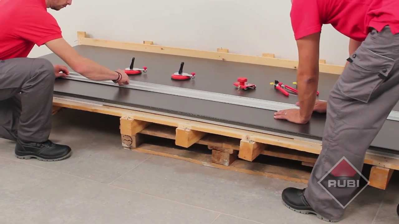 How To Cut Large Tiles With Rubi Slim System Cutter