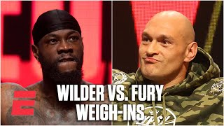 Tyson Fury, Deontay Wilder weigh-in for their heavyweight rematch | Boxing on ESPN