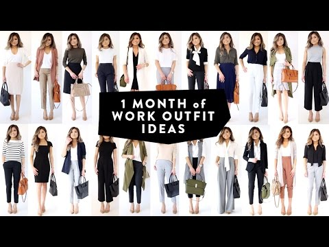 1 MONTH OF WORK OUTFIT IDEAS   Professional Work Office Wear Lookbook   Miss Louie