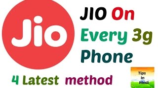 Jio On Any 3G Mobile | 4 Latest trick | Reliance JIO 4G