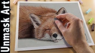 Fox Painting with Soft Pastels | Live Tutorial