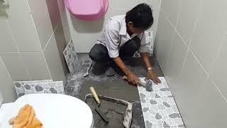 Hướng dẫn cách ốp lát gạch nhà vệ sinh chung cư đẹp