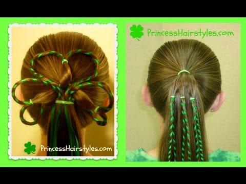 St Patricks Day Hairstyles 3 Leaf Clover Shamrock