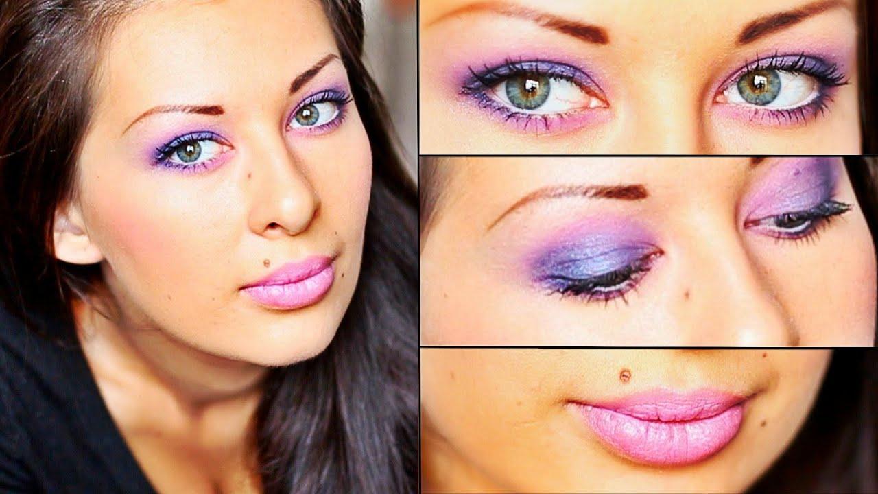 Макияж голубые глаза фото до и после