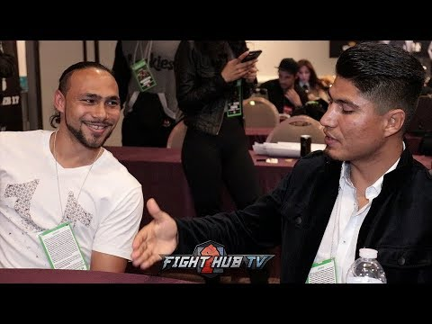 "MIKEY GARCIA TO KEITH THURMAN ""IF I MOVE UP TO 147, IM GOING FOR YOU!"""