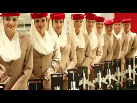 Emirates Cabin Crew At Dubai Mall | Emirates Official Store & A380 Experience video