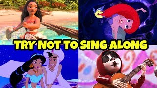 Try Not To Sing Along Disney Movies Songs Challenge. (If You Sing You Lose 2018)