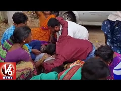 Car Hits Auto Near Punnelu X Road | One Died Four Injured | Warangal | V6 News