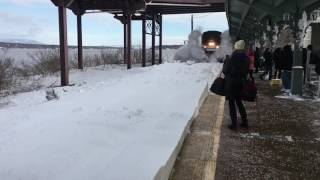 Amtrak Snow-mo Collision